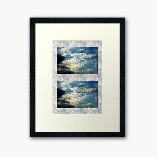Dragon in the Clouds Framed Art Print