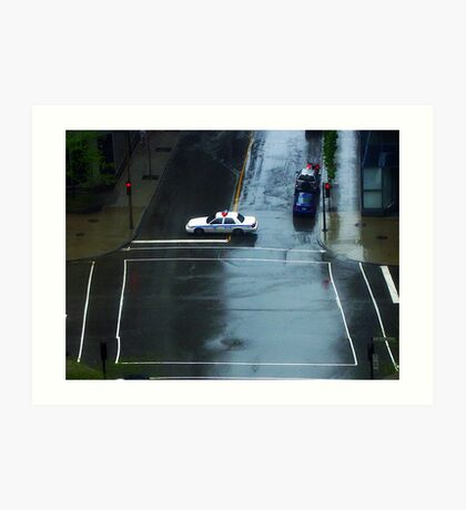 Montreal - Police car. Art Print