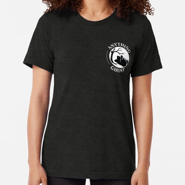 Anything Ghost Graveyard Logo (for dark background or material only) Tri-blend T-Shirt