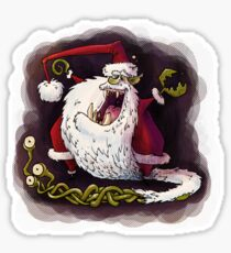 santa claws revisited Sticker