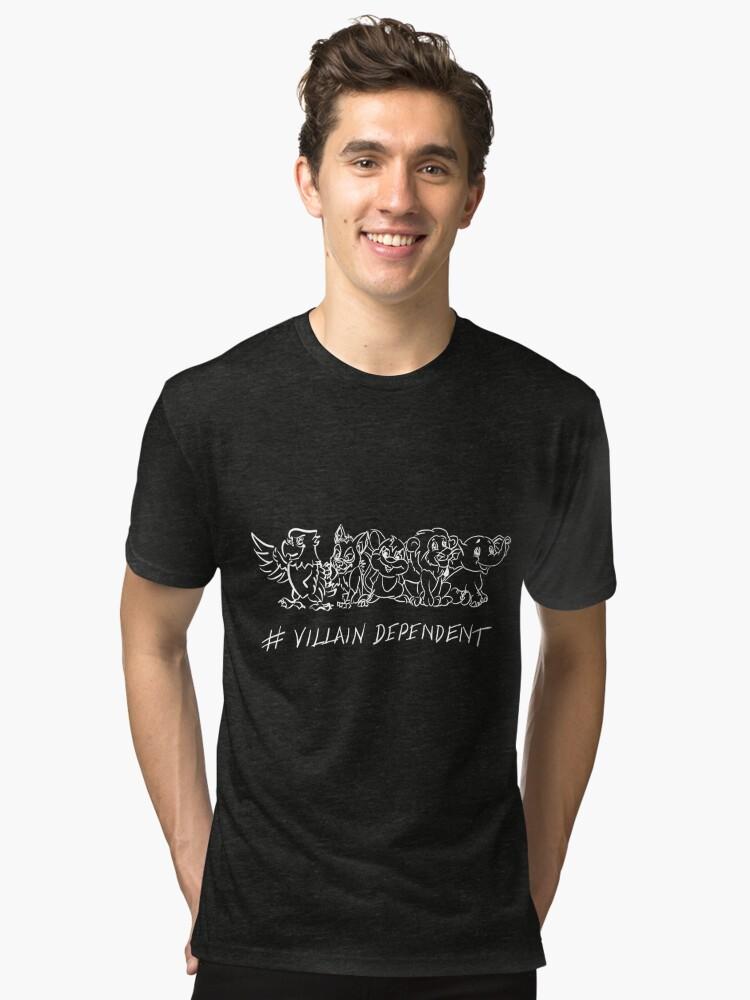 Alternate view of Villain Dependent Poker Tri-blend T-Shirt