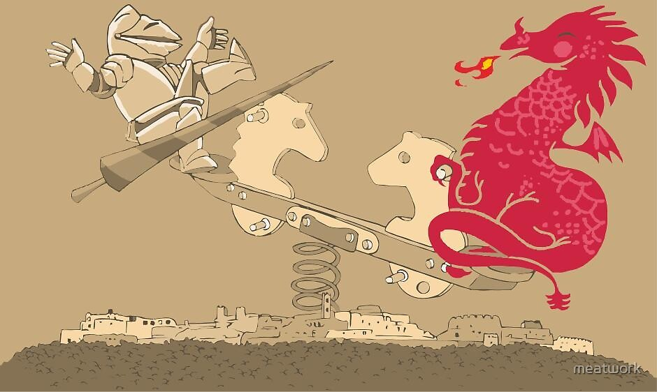 saint george and the dragon by meatwork