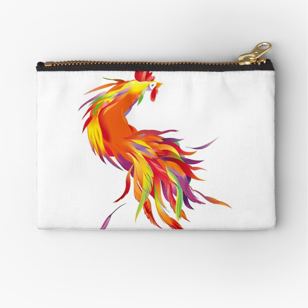 Red Cock Zipper Pouch