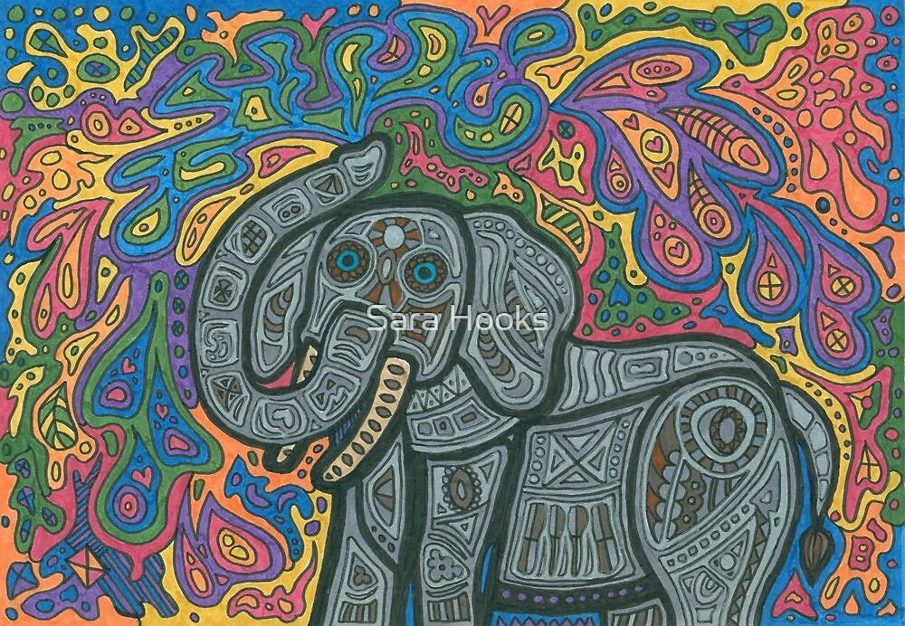Playful Elephant by Sara Hooks