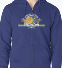 The best surfing in the universe Zipped Hoodie
