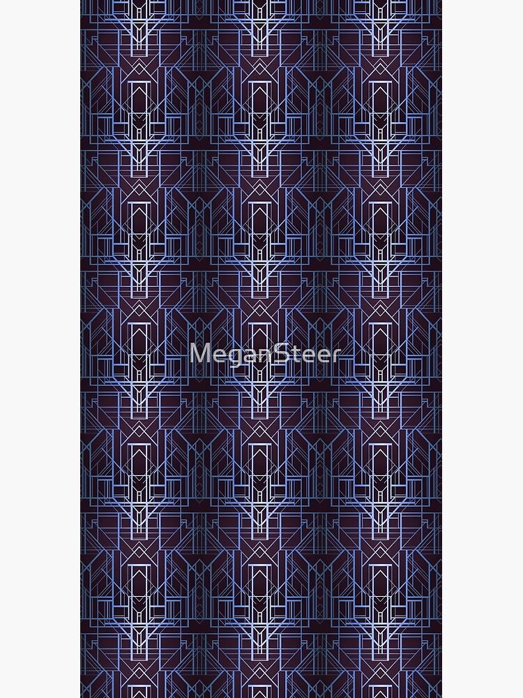 Geometric Deco in Blue by MeganSteer