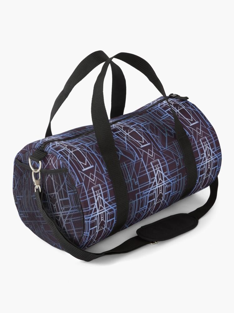 Alternate view of Geometric Deco in Blue Duffle Bag