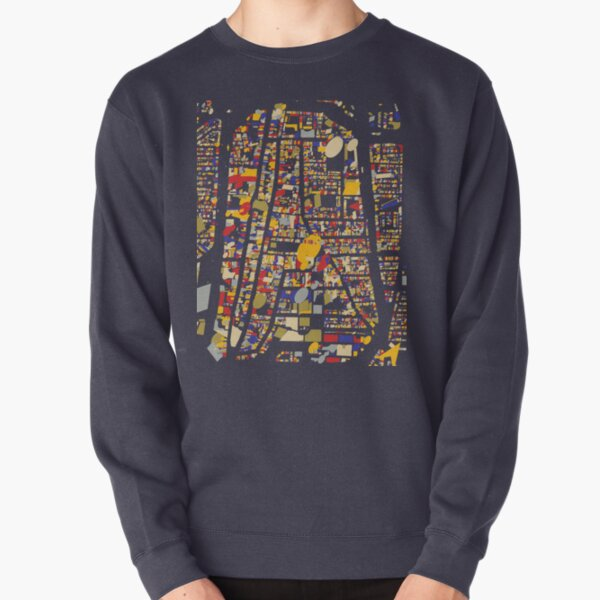 Delft Map Qlimt Style Pullover Sweatshirt