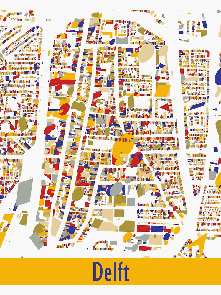 Delft Map Qlimt Style by jvdkwast