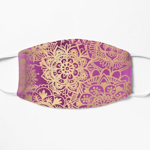 Pink and Gold Mandala Pattern Mask