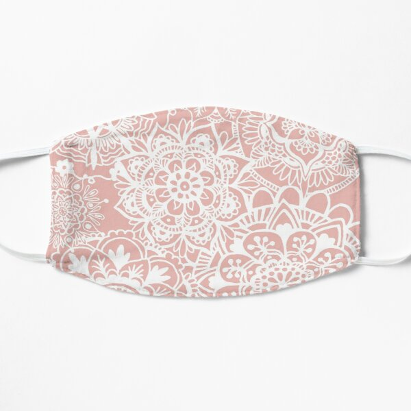 Pink and White Mandala Pattern Mask