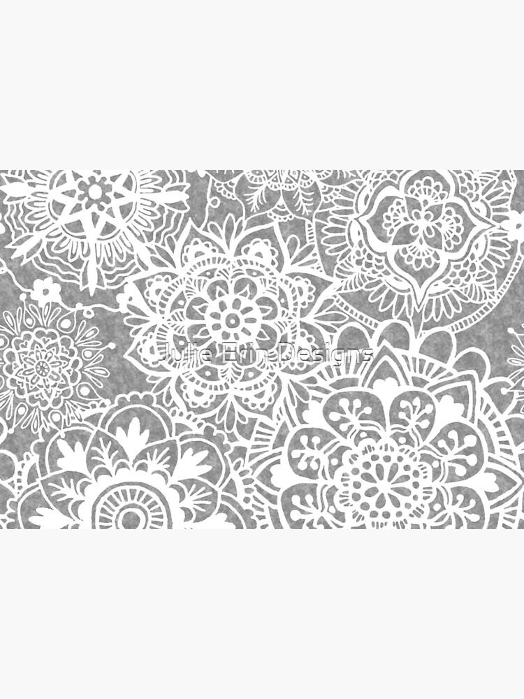 Soft Grey Mandala Pattern by julieerindesign