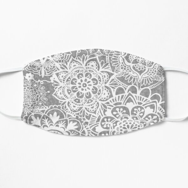 Soft Grey Mandala Pattern Mask