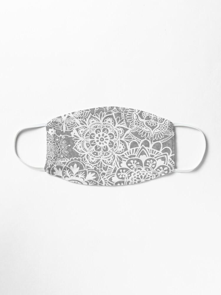 Alternate view of Soft Grey Mandala Pattern Mask