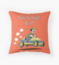 Go, Luigi. Go! Throw Pillow