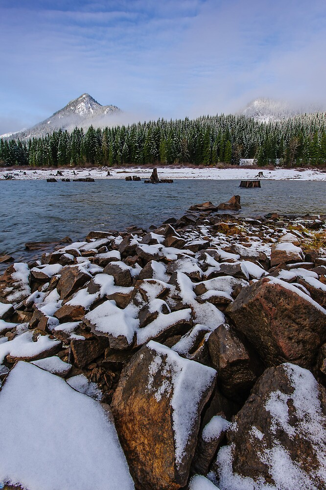 First Snow at Snoqualmie Pass by Dan Mihai