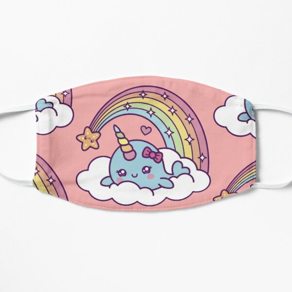 Unicorn Narwhal Girl Dreams On Cloud With Rainbow Mask
