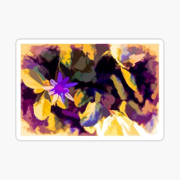 Background - Passion Flower - Molten Gold - Smuged Sticker