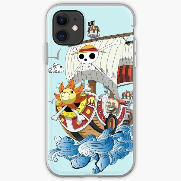 Thousand sunny pirate ship iPhone Soft Case
