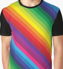 RAINBOW STRIPE bright bold colourful Graphic T-Shirt