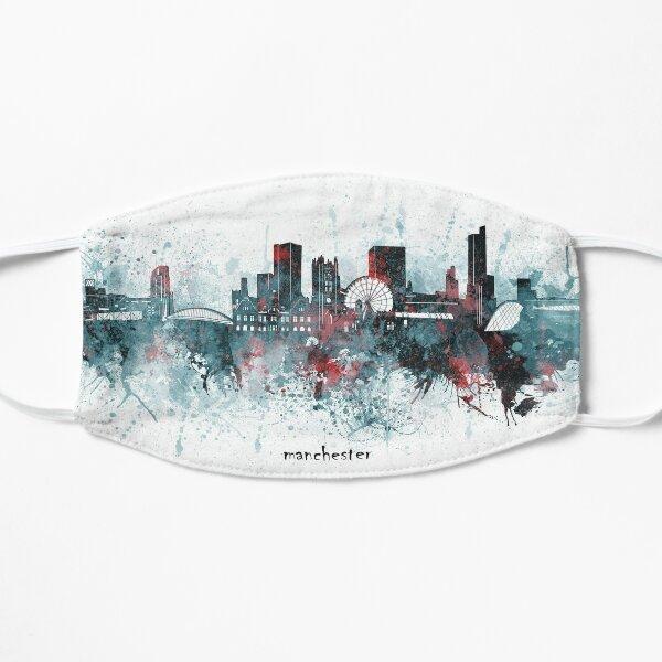 manchester skyline Flat Mask