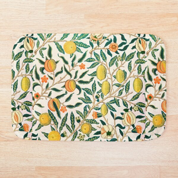 Fruit or Pomegranate by William Morris, 1865-66 Bath Mat