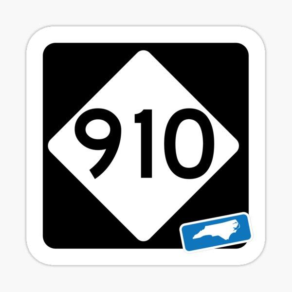 North Carolina State Route 910 (Area Code 910) Sticker