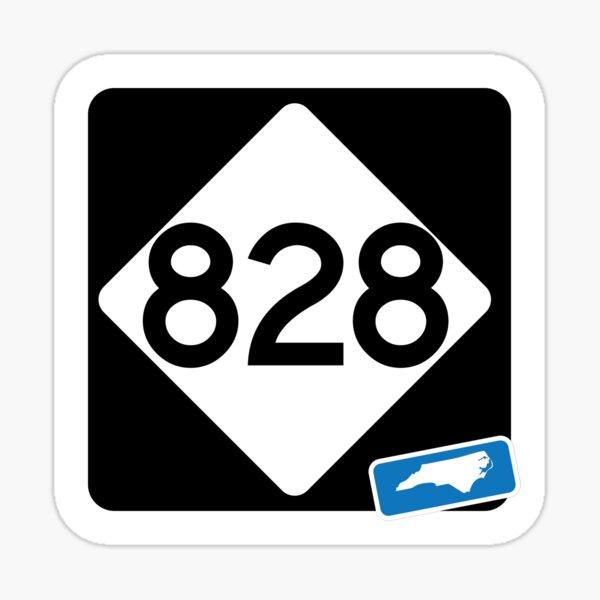 North Carolina State Route 828 (Area Code 828) Sticker