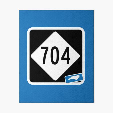 North Carolina State Route 704 (Area Code 704) Art Board Print