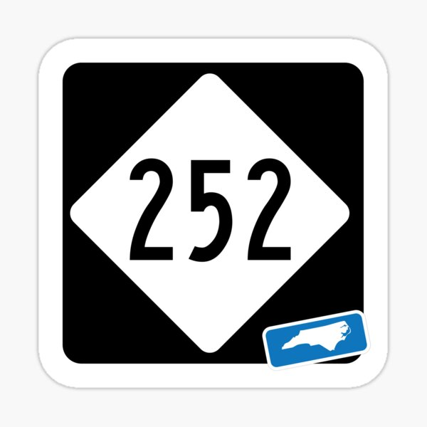 North Carolina State Route 252 (Area Code 252) - Outer Banks, OBX Sticker