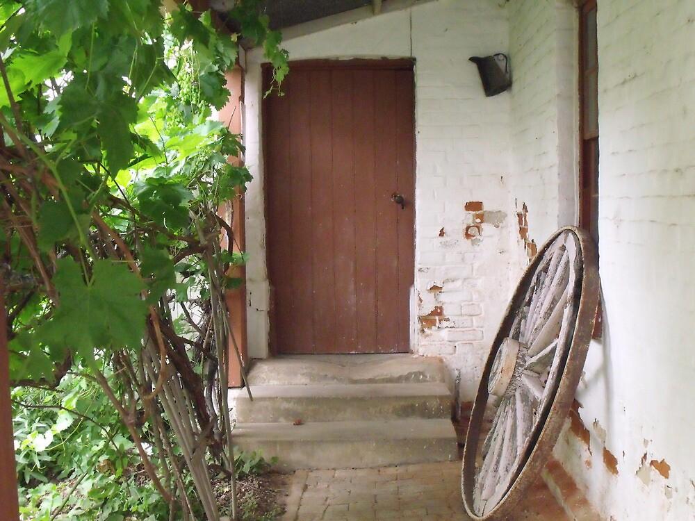 Rustic Back Entrance by Judy Woodman