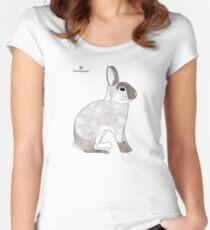 rabbit, agouti sable colour Women's Fitted Scoop T-Shirt