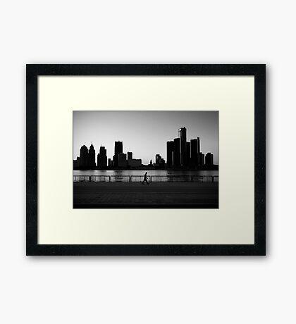Walk Alone Framed Print