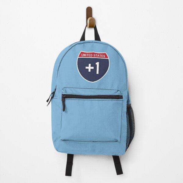 Interstate 1 - United States - (International Calling Code +1) Backpack