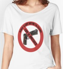 ☮ SAVE A LIFE SAY NO TO GUNS TEE SHIRT☮  Women's Relaxed Fit T-Shirt