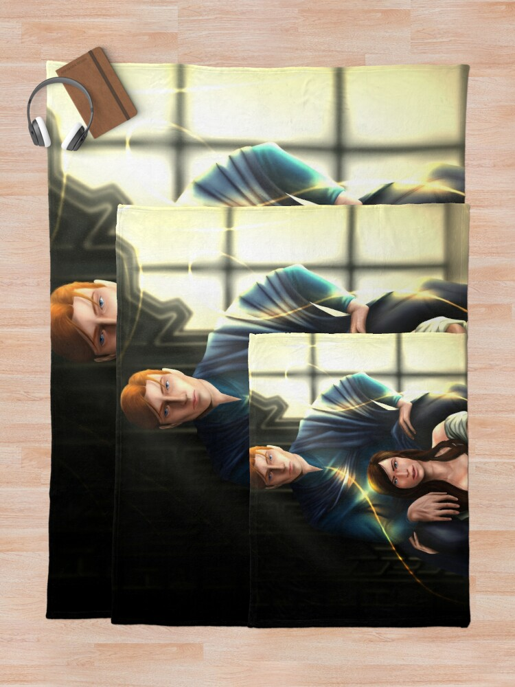 Alternate view of Reid and Lou - Serpent & Dove Throw Blanket