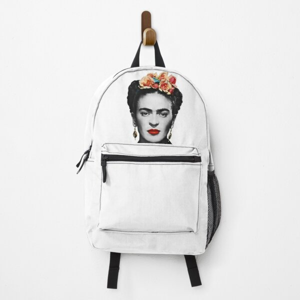 Frida Kahlo Portrait Black And White Backpack