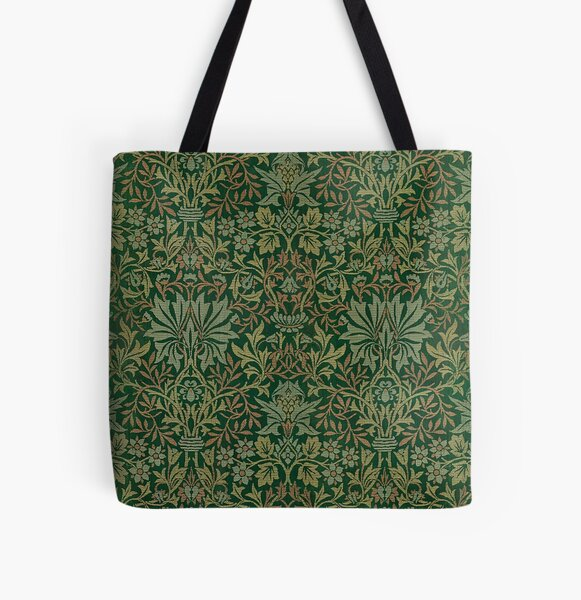 Flower Garden by William Morris, 1879 All Over Print Tote Bag