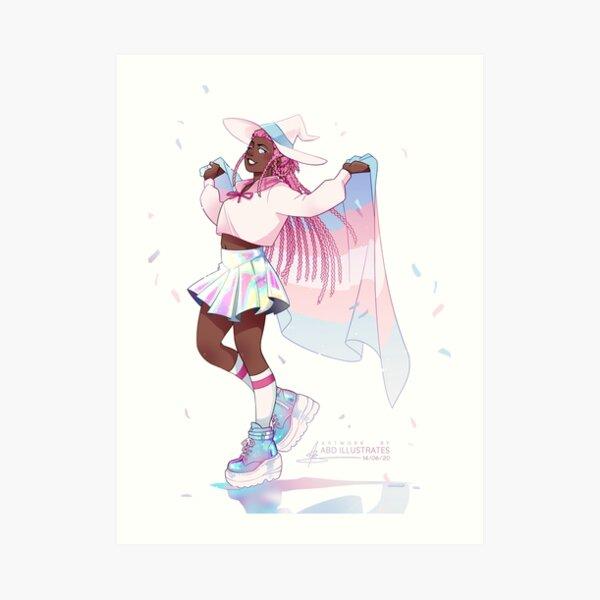 Trans Pride Babey! Art Print