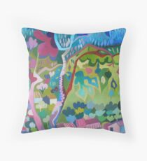 Monchique - view from the Alferce Road Throw Pillow