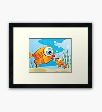 Critterz - Fish - Olive & Pickles Framed Print