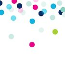 CONFETTI SPOT modern bright colourful fun pattern by Kat Massard