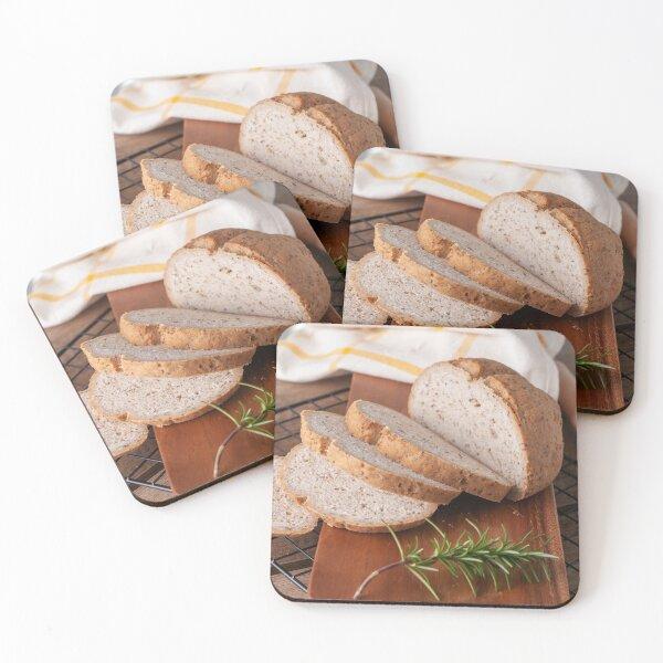 Artisan Bread Coasters (Set of 4)