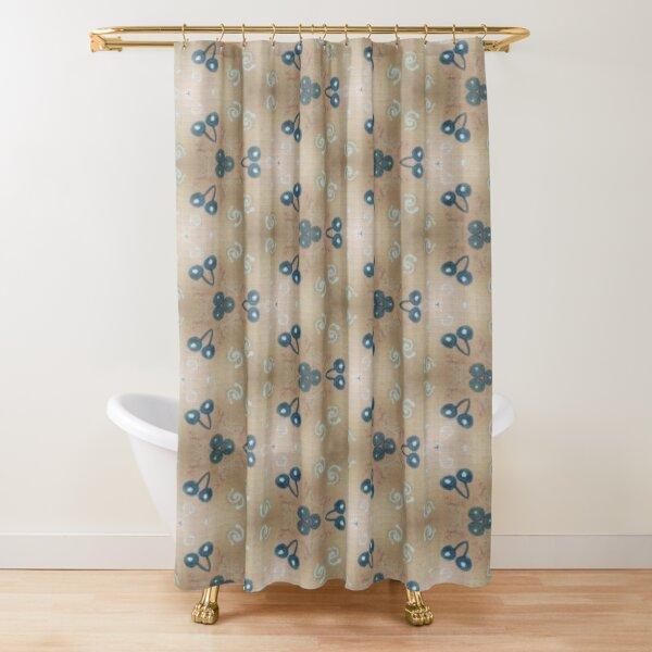 Blueberry Breeze Shower Curtain