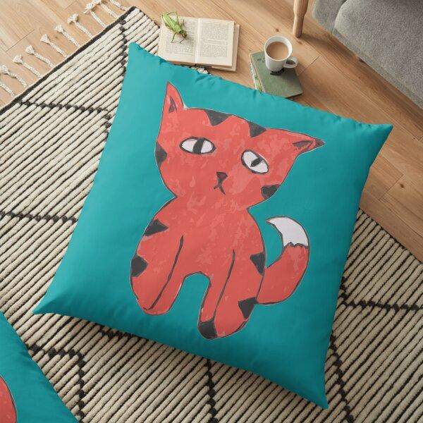 Sad Cat by Dre Floor Pillow
