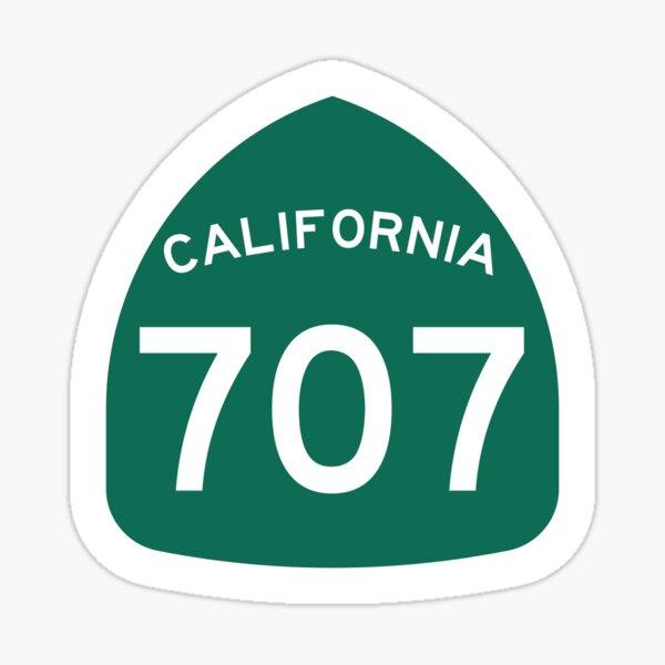 California State Route 707 (Area Code 707) Sticker
