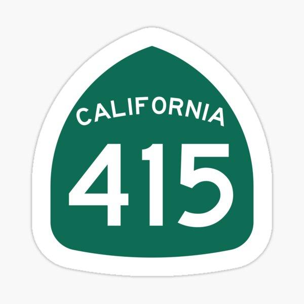 California State Route 415 (Area Code 415) Sticker