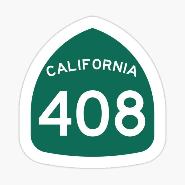California State Route 408 (Area Code 408) Sticker