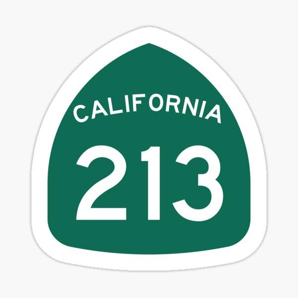 California State Route 213 (Area Code 213) Sticker