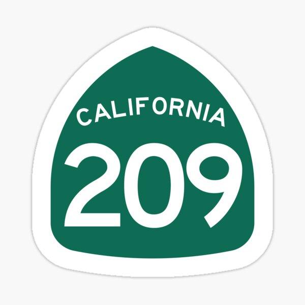 California State Route 209 (Area Code 209) Sticker